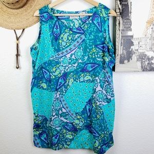 DVF The Color Authority Rayon Tunic Marine Blues
